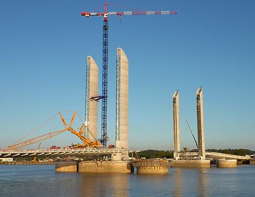 Le chantier du pont en 2012