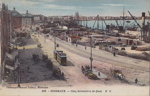 La pleine activité du port de Bordeaux au début du XXe