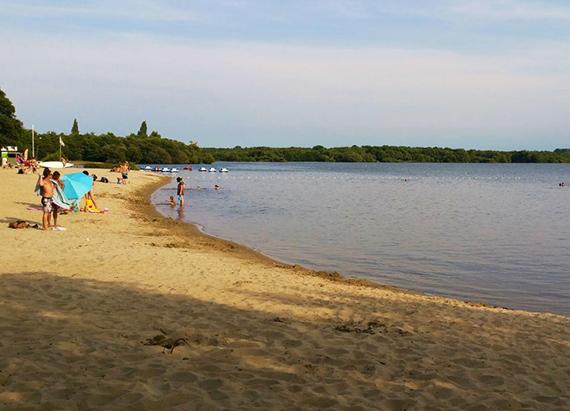 Toute la quiétude du lac de Léon...