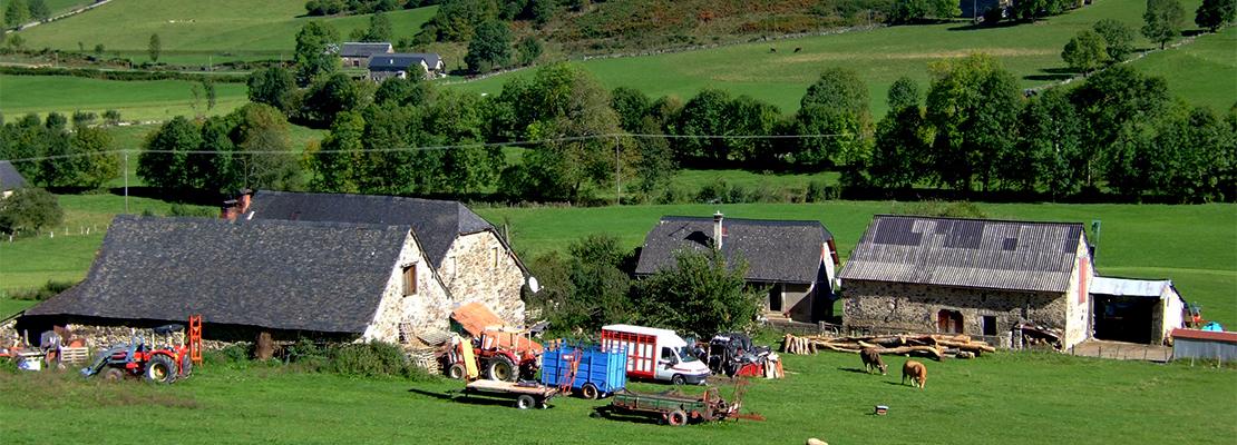Ferme traditionnelle en vallée d'Aspe.