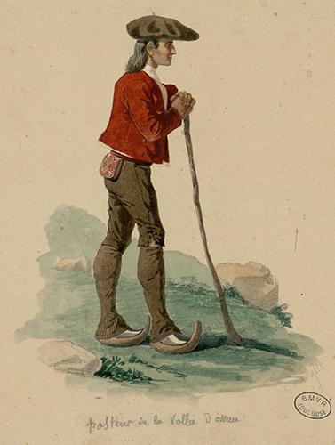Pasteur de la vallée d'Ossau, coiffé d'un magnifique béret (date inconnue)