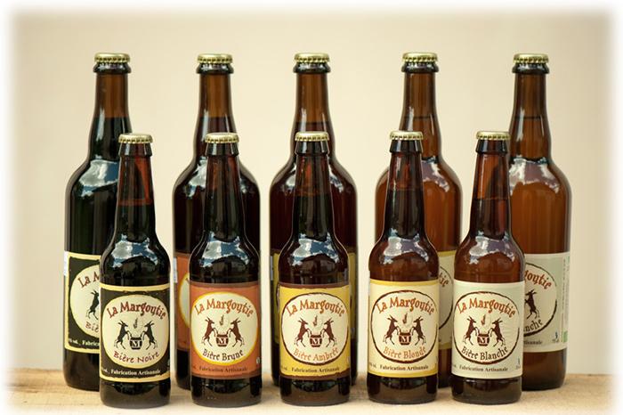 bouteilles de bière la Margoutie