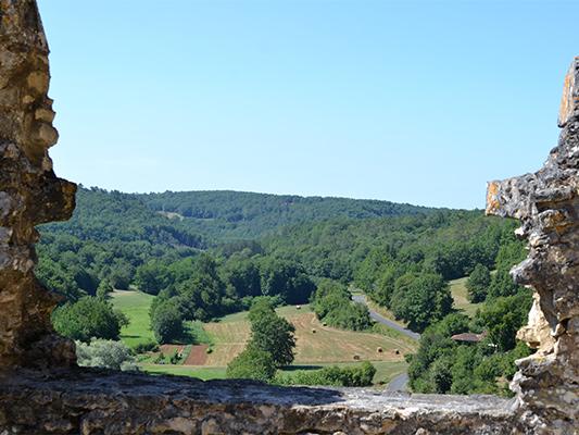 paysage vu du château de Bonaguil