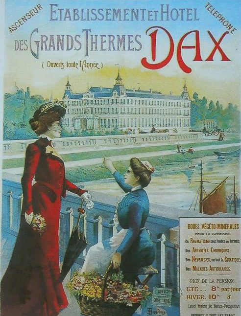 Vieille publicité des thermes de Dax