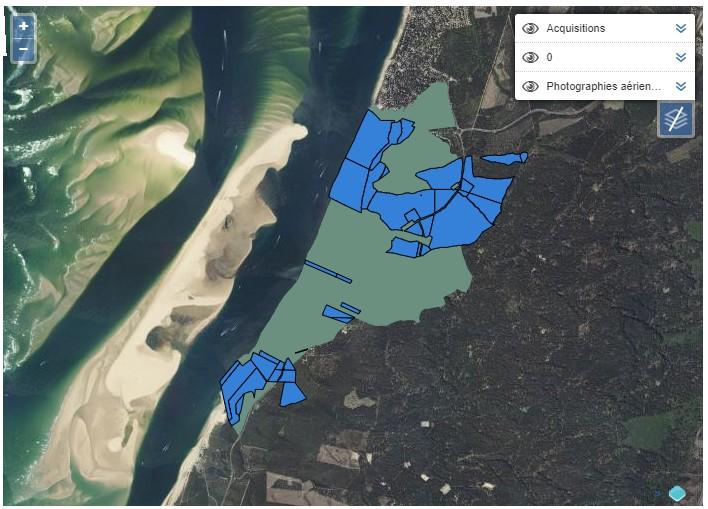 parcelles du conservatoire du littoral à la dune du pyla