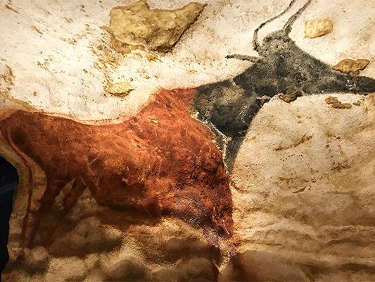 reproduction de peinture rupestre de Lascaux 4