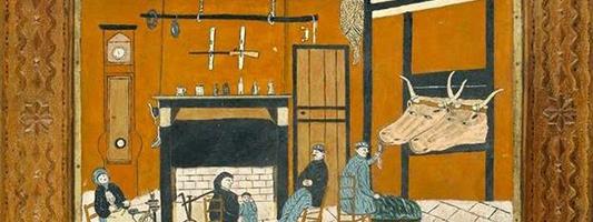 illustration du ristoun, une ouverture entre l'étable et la maison landaise.