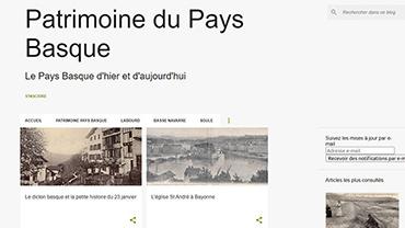 capture d'écran du site patrimoine du pays basque
