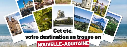 affiche campagne promotionnelle tourisme en nouvelle aquitaine