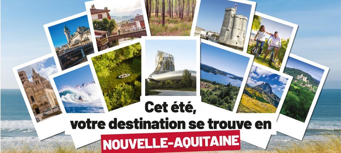 affiche de prmotion touristique de la nouvelle aquitaine
