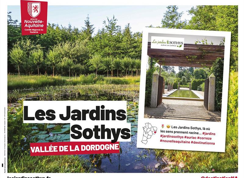 affiche de promotion des jardins sothys en dordogne
