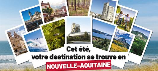 affiche promotion tourisme nouvelle-aquitaine